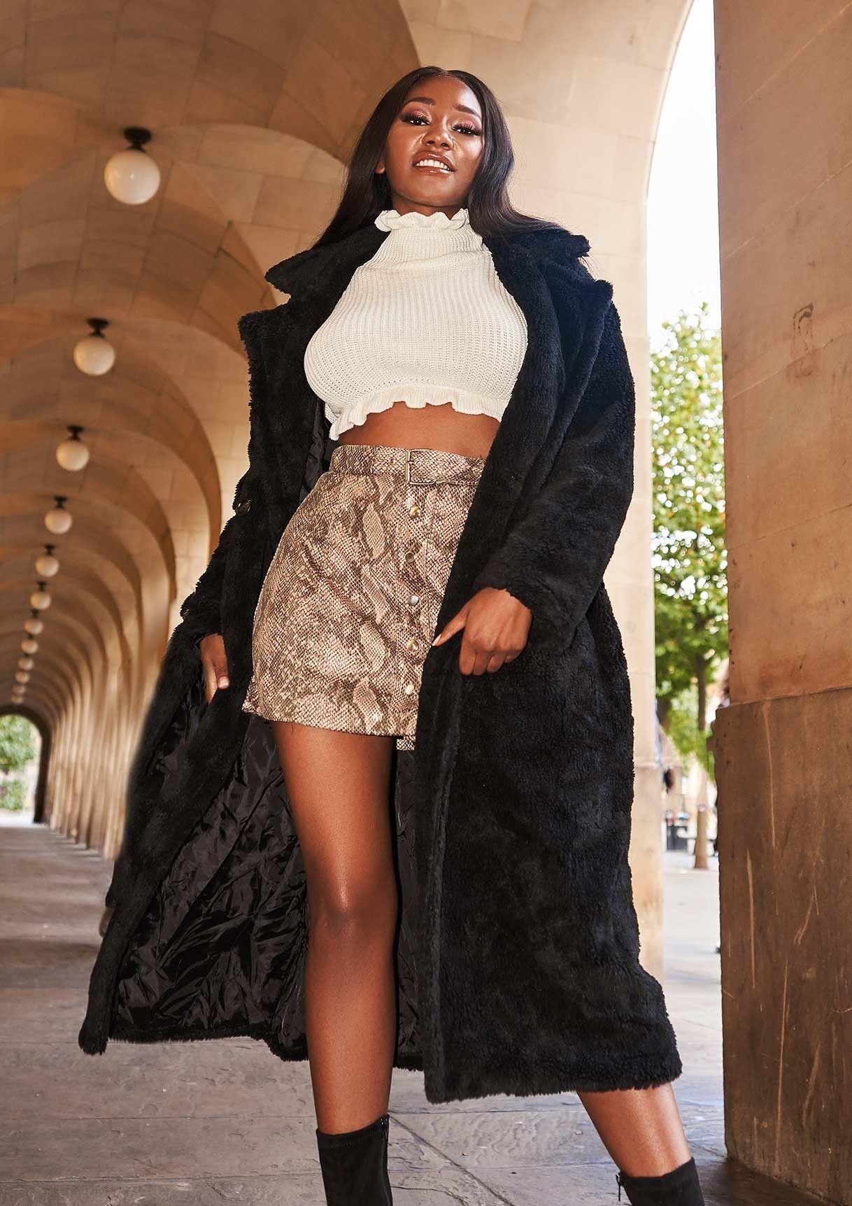 b03c68d87252b8 Kaydence Oversized Black Teddy Faux Fur Coat | ⚡ autumn's ...