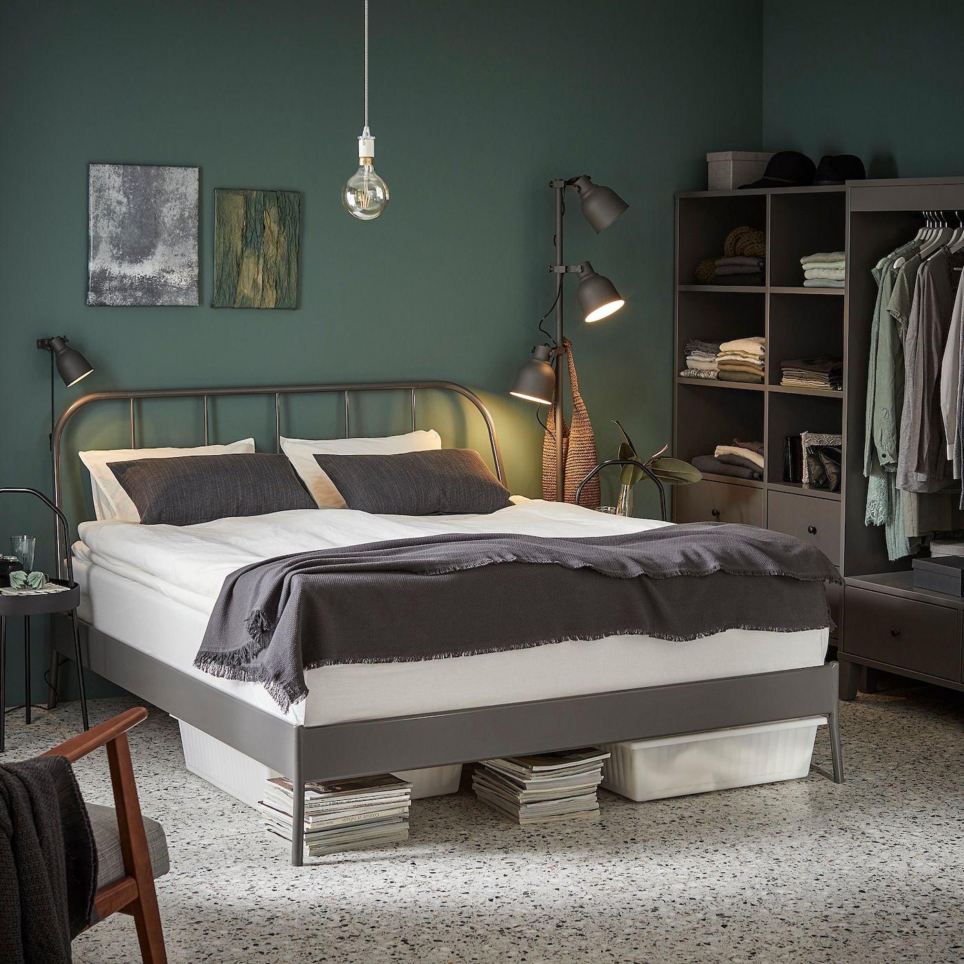 KOPARDAL Rama łóżka szary 160x200 cm Bedframe, Ikea