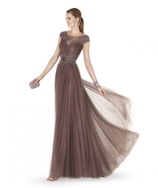 imagen 7 modelo agradable. vestido de fiesta en color visón que