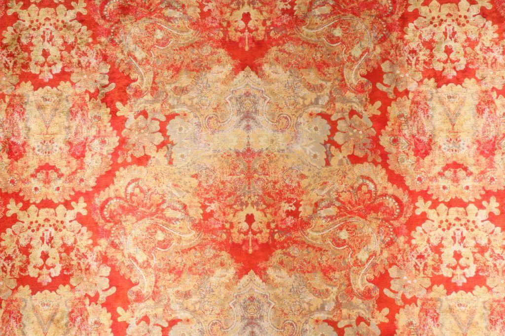 Poetic Wanderlust Enchantress Printed High Lustre Low Pile Velvet Upholstery Fabric in Henna $14.95 per yard #velvetupholsteryfabric