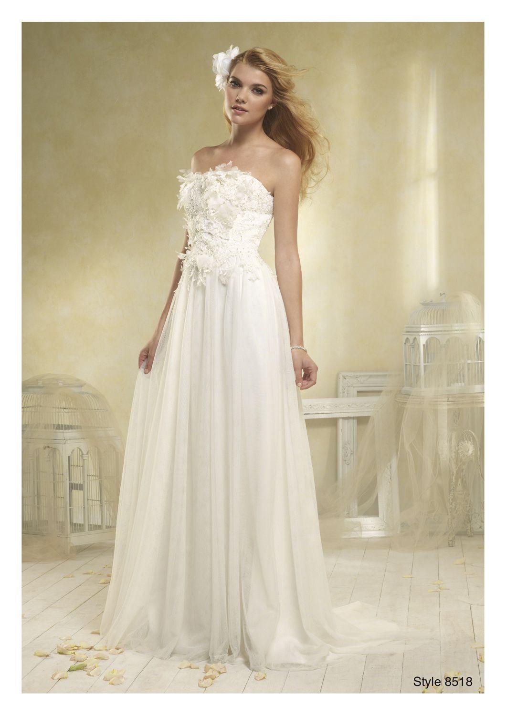 8518 - Alfred Angelo size 10 modern vintage | Romantic English Boho ...