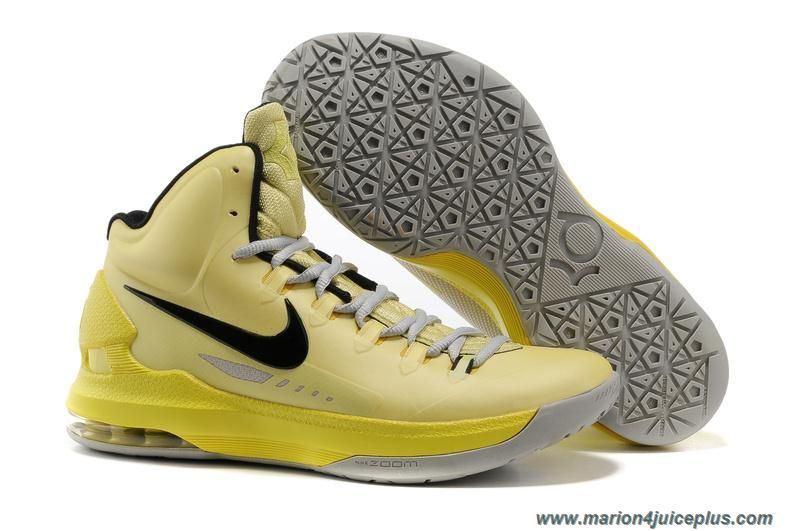 Nike Zoom Kd V 5 Id Tartrazine Yellow Black 554988 700 Kevin Durant Shoes TopDeals