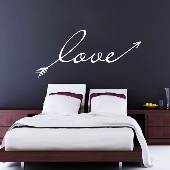 Wall Decal Arrow Love Vinyl Sticker Decals Art Home Decor Mural Feather Indie Boho Wall Decal Arrows Fashion
