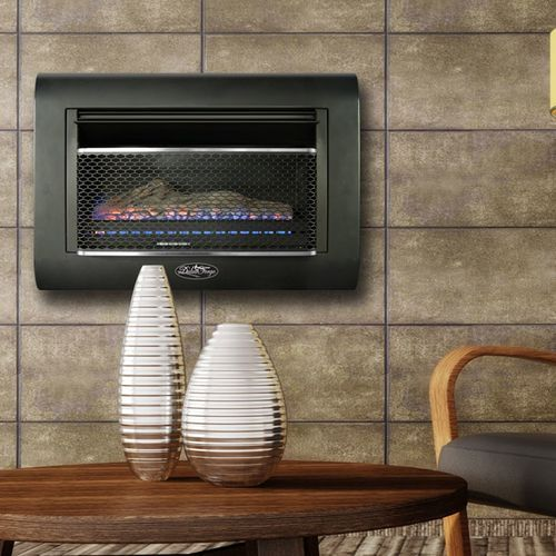 Duluth Forge Ventless Linear Wall Gas Fireplace 26 000 Btu T Stat Model Df300l Wall Mounted Heater Gas Fireplace Infrared Heater Ventless wall mount gas fireplace