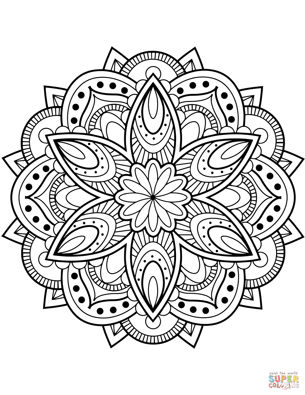 Flower Mandala Coloring Page Free Printable Coloring Pages In 2020 Mandala Coloring Pages Printable Coloring Pages Mandala Coloring