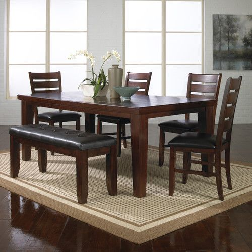Found It At Wayfair Bardstown 6 Piece Dining Set Dining Room Furniture Sets Solid Wood Dining Set Dining Room Sets