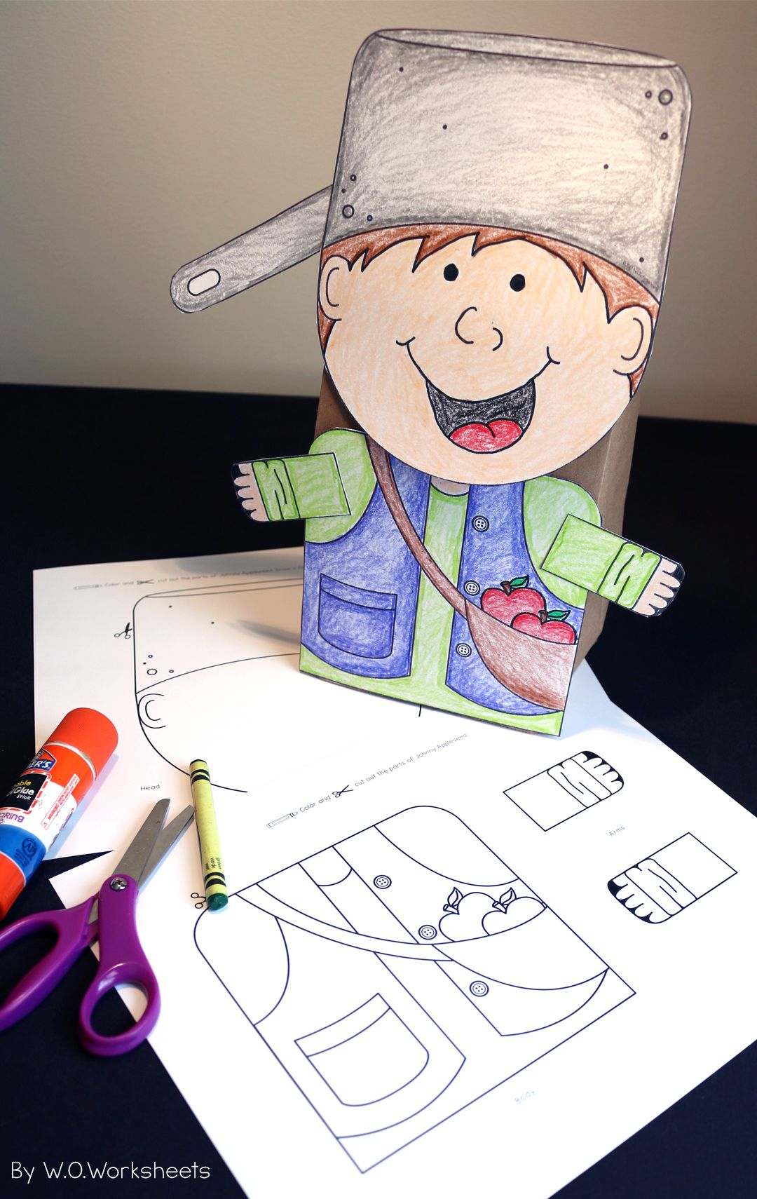 Johnny Appleseed Craft Halloween And Fall Pinterest