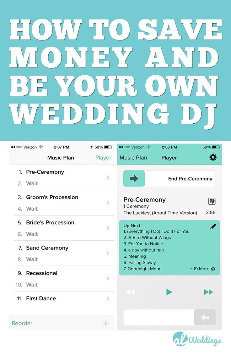 How To Save Money At Your Wedding By Being Your Own Wedding DJ Ive Also Listed A Full Wedding