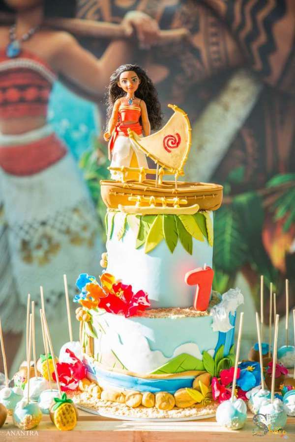 Moana Theme Birthday Party Cake 1 Birthday Cakes Pinterest