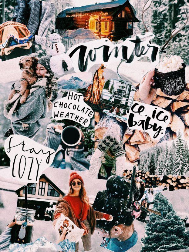 Aesthetic Collage Wallpaper Winter Aesthetic
