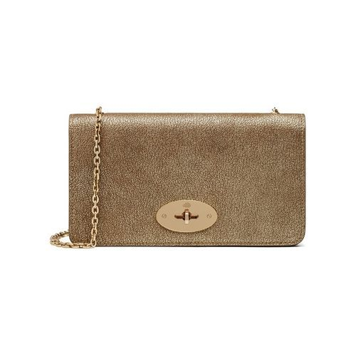 9205e9a7ae63 ... france bayswater clutch wallet in metallic mushroom goat women mulberry  8d680 badca