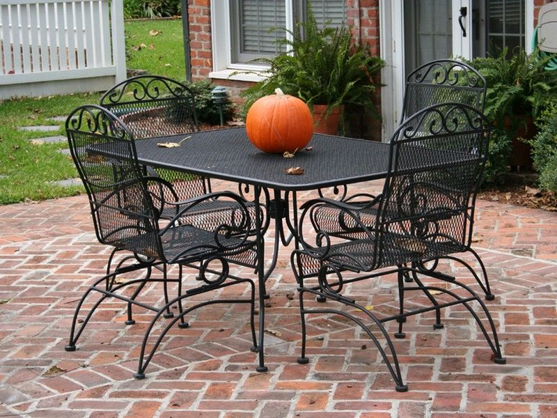 patio table and chair sets lowes cheap outdoor cushions wrought iron furniture in 2019