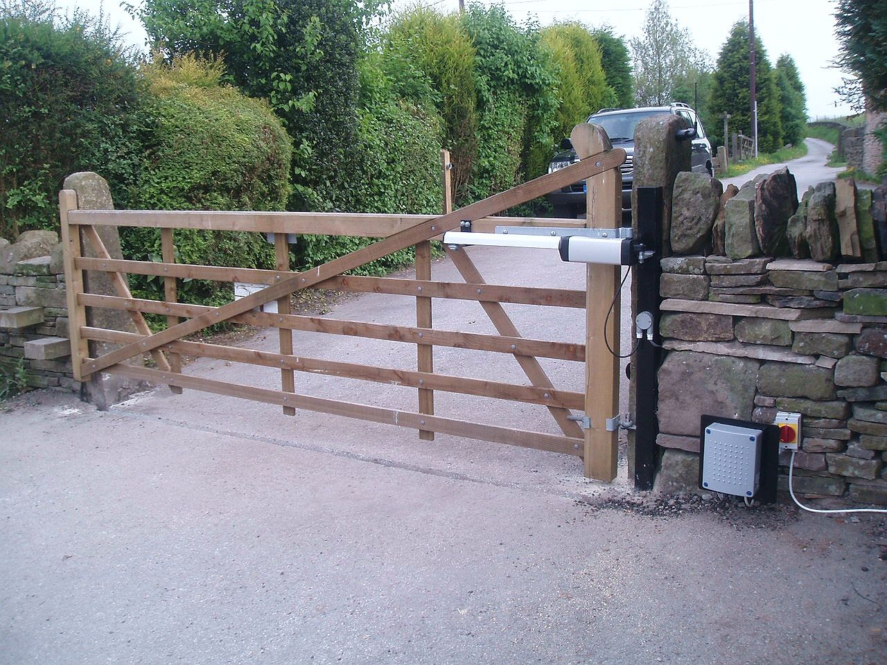 Double Wooden Field Gates