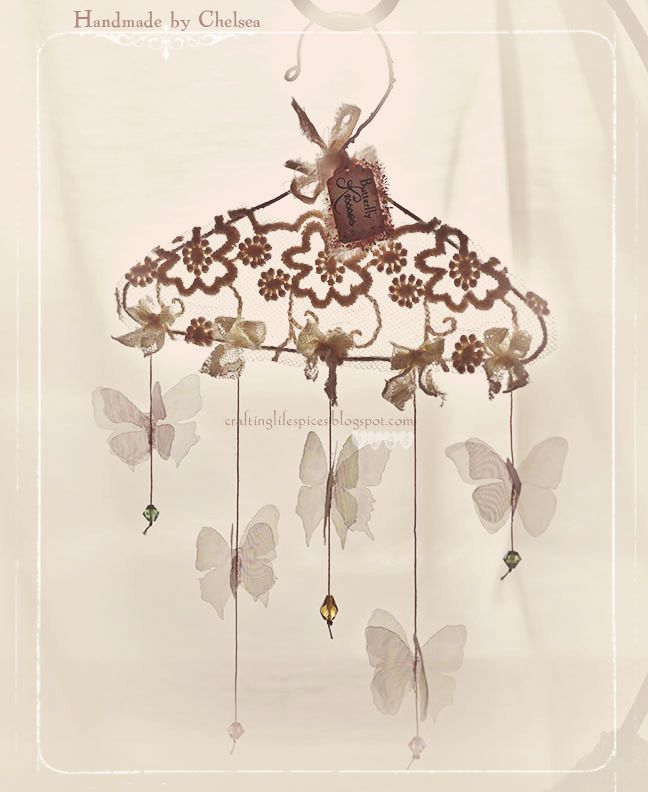 Crafting Life's Pieces: Butterfly kisses - Whimsy hanger