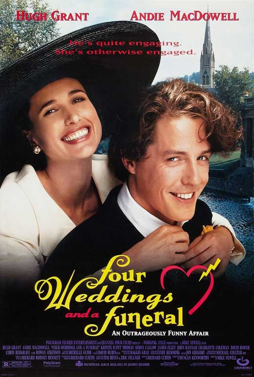 Four Weddings And A Funeral Romantic Movies Wedding Movies Film Movie