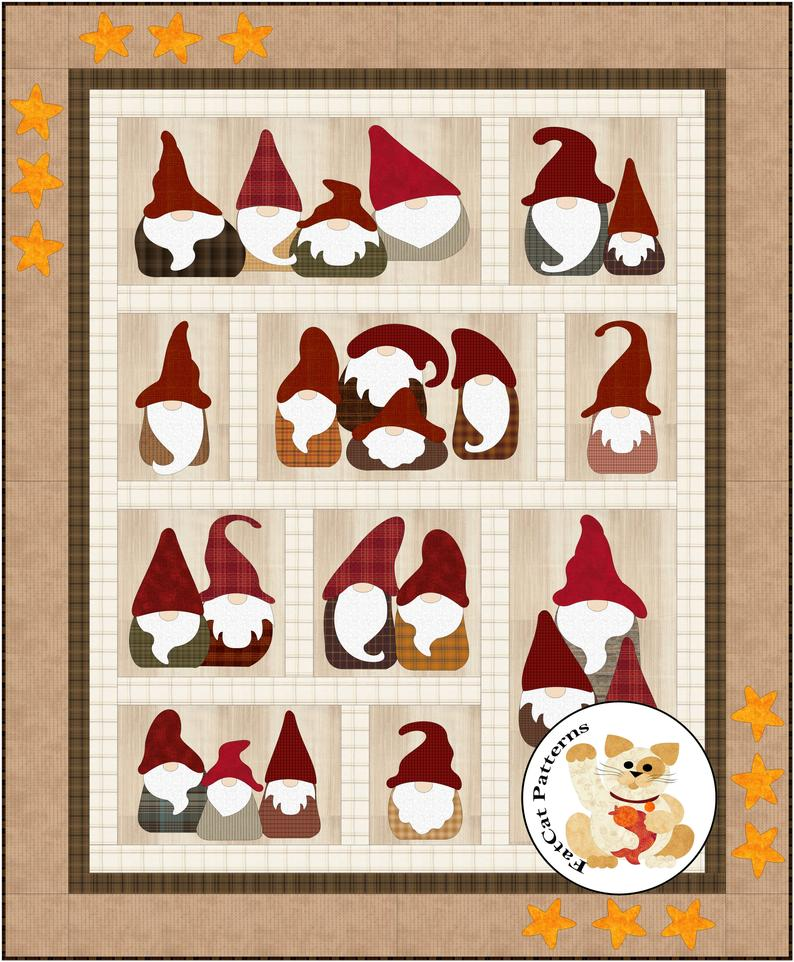 Here We Gnome Again Christmas quilts, Quilt patterns