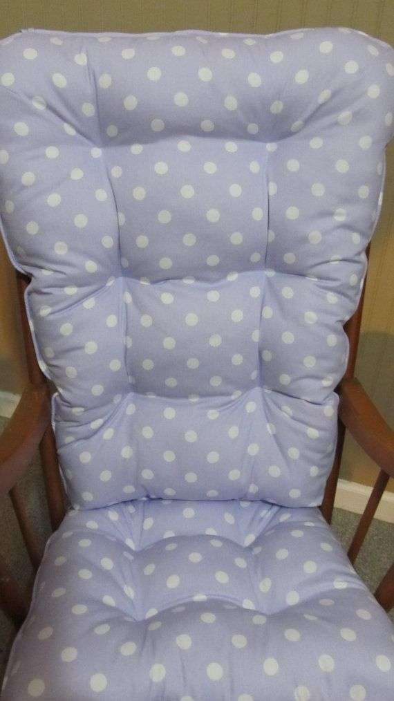 Rocking Chair Or Glider Cushions Set In Lilac Lavender