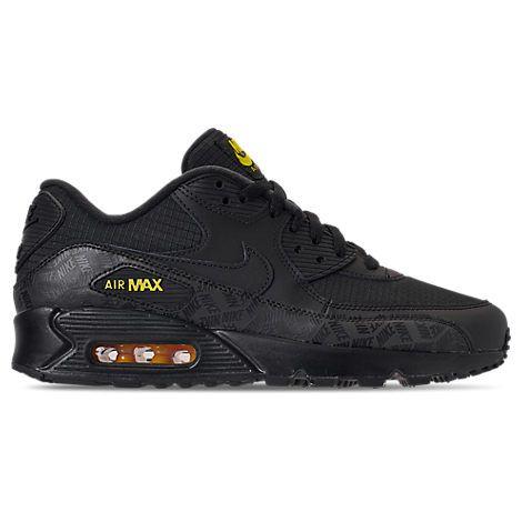 super popular 6ae58 8cbe1 NIKE MENS AIR MAX 90 ESSENTIAL CASUAL SHOES, BLACK. nike shoes Air