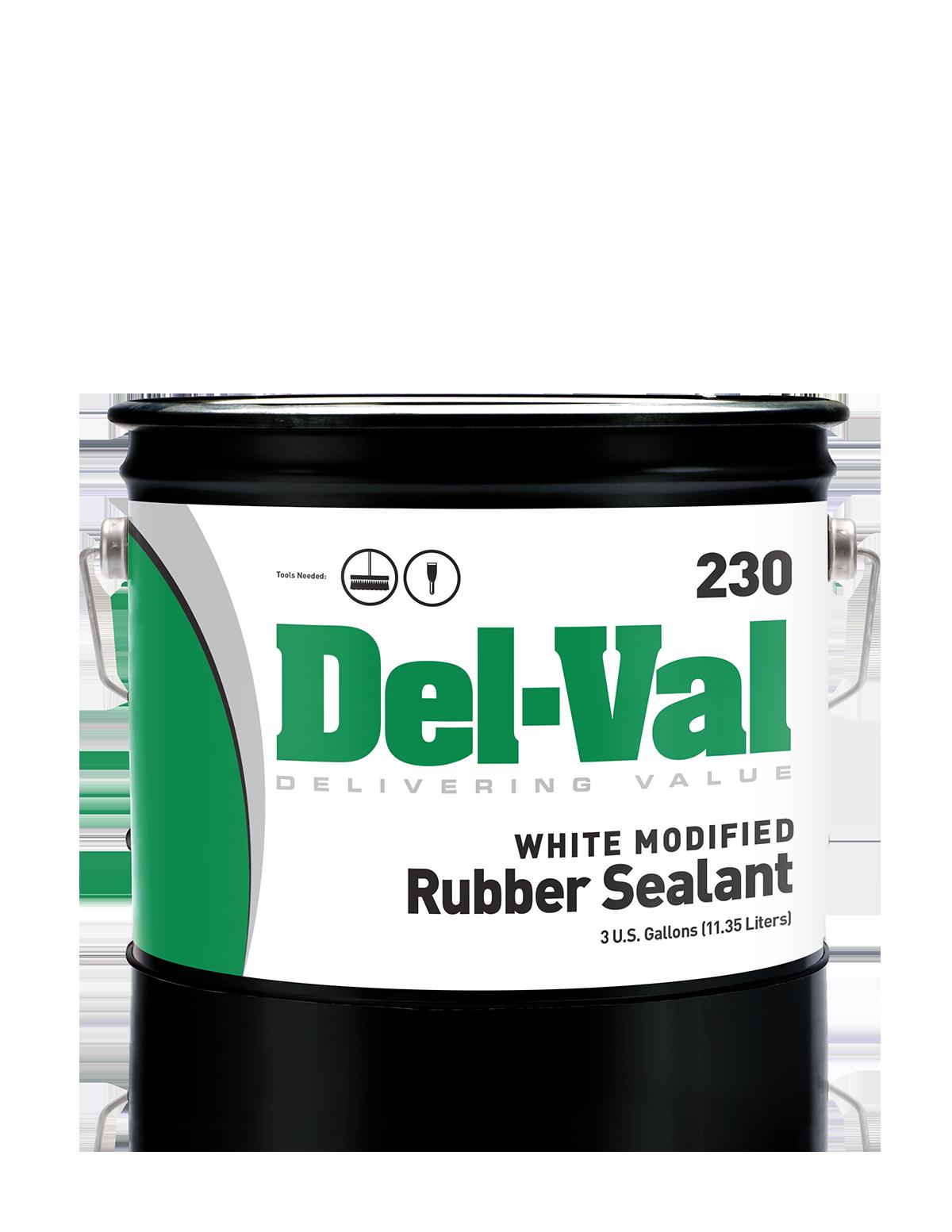 Del-Val 230 Modified Rubber Sealant (White) is a single
