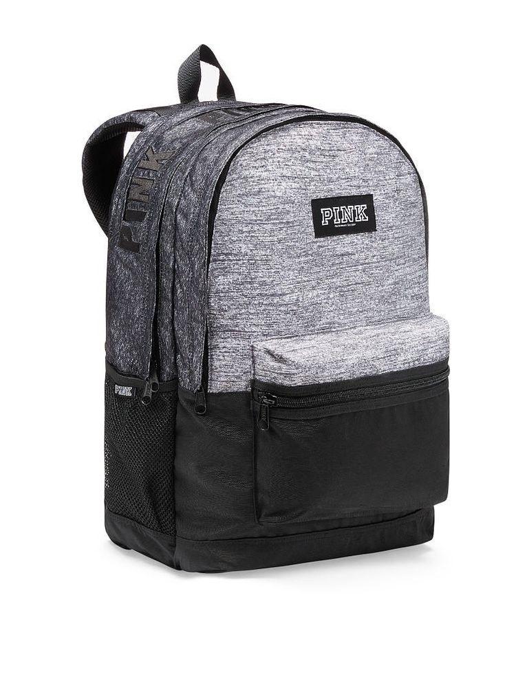 9a6261365398 Victoria s Secret PINK 2018 Campus Backpack Bookbag Bag Grey Marl NWT