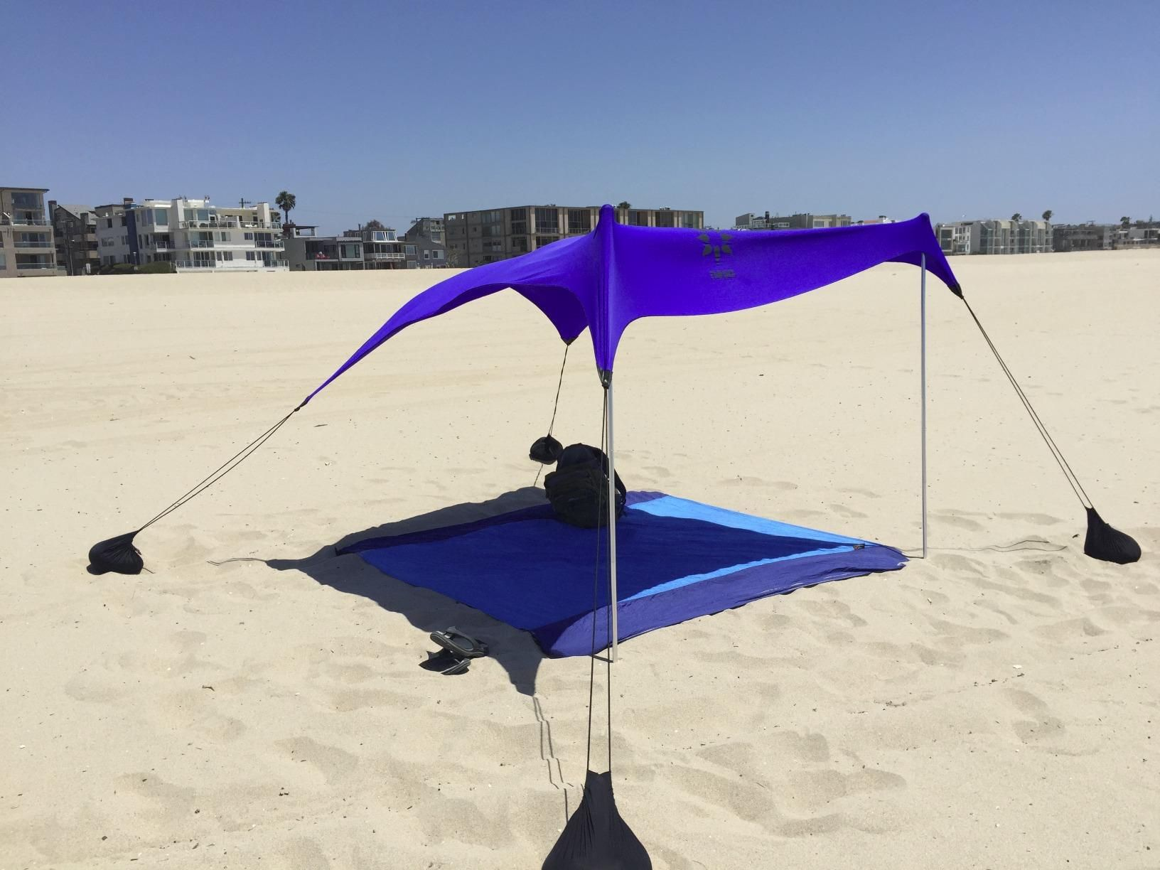 Amazon.com Beach Tent with Sand Anchor Portable Canopy for Shade (Coral : portable beach tent - memphite.com