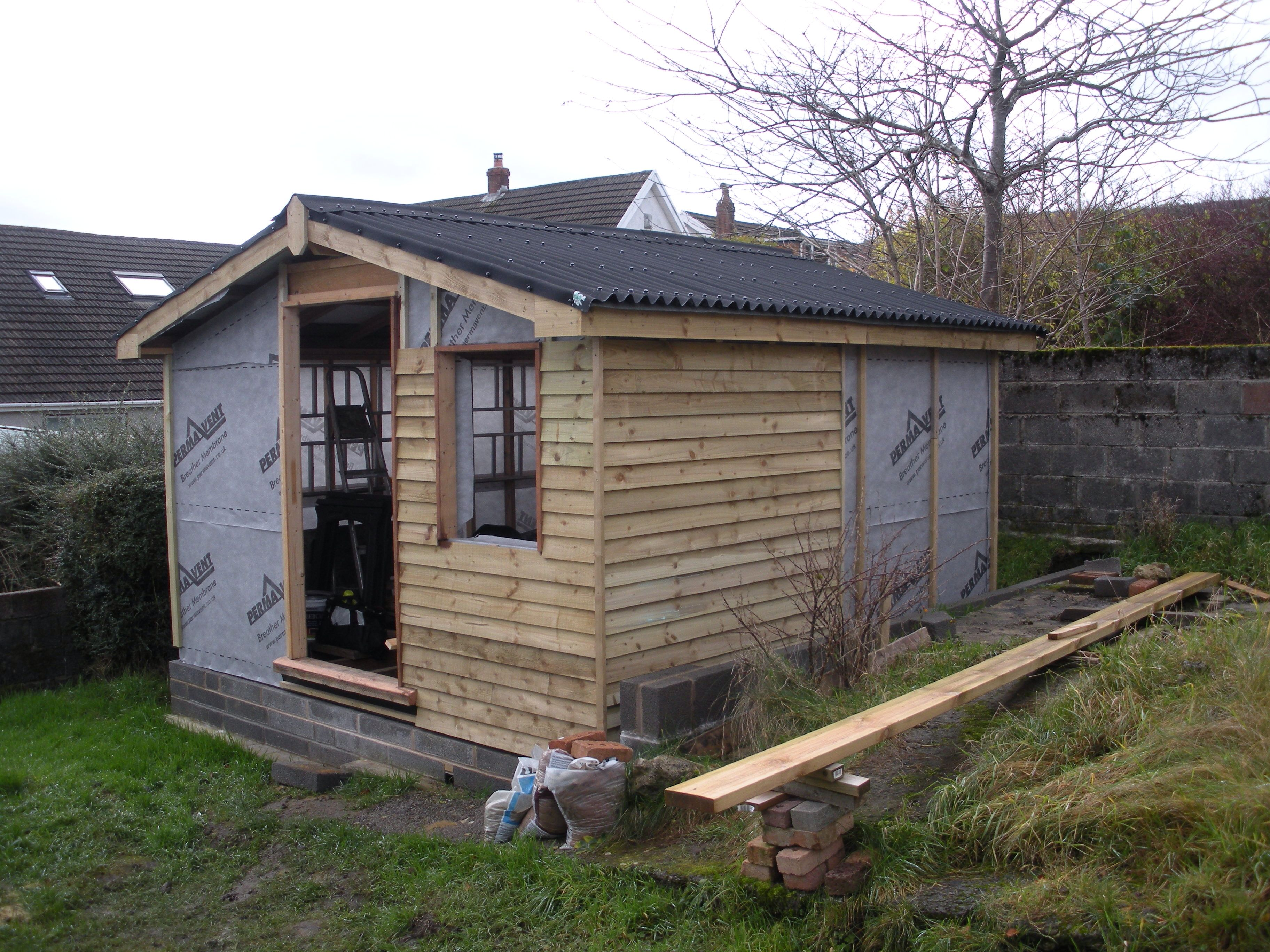 12x12 shed - Feather edge cladding frame
