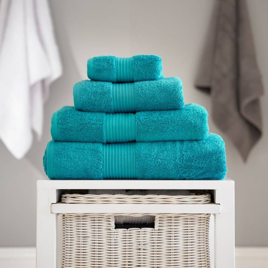Deyongs Pima Cotton Hand Towel Teal In 2020 Teal Bath Towels