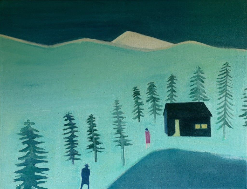Tom Hammick, Cloudy Mountain, 2015, Flowers #color master #painting #art