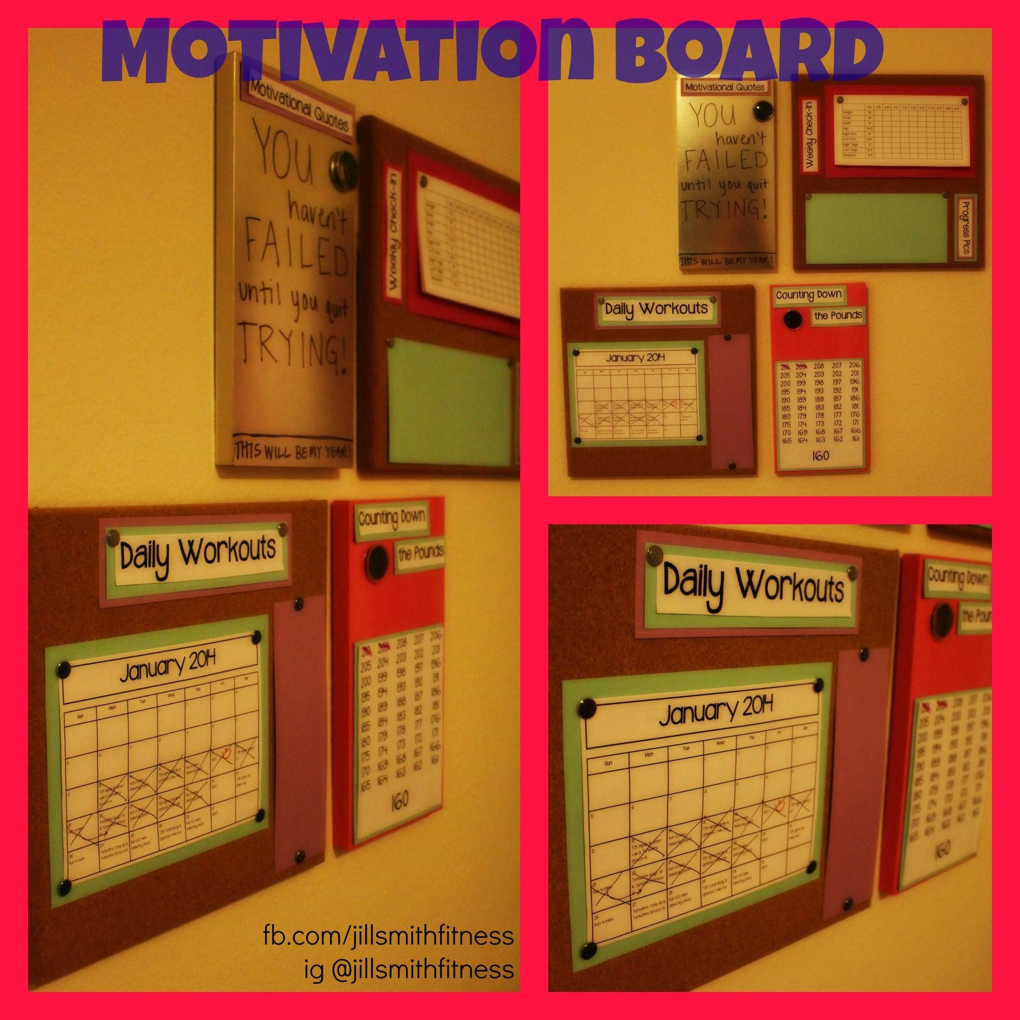 Fitness Motivation Board Fb Jillsmithfitness For More