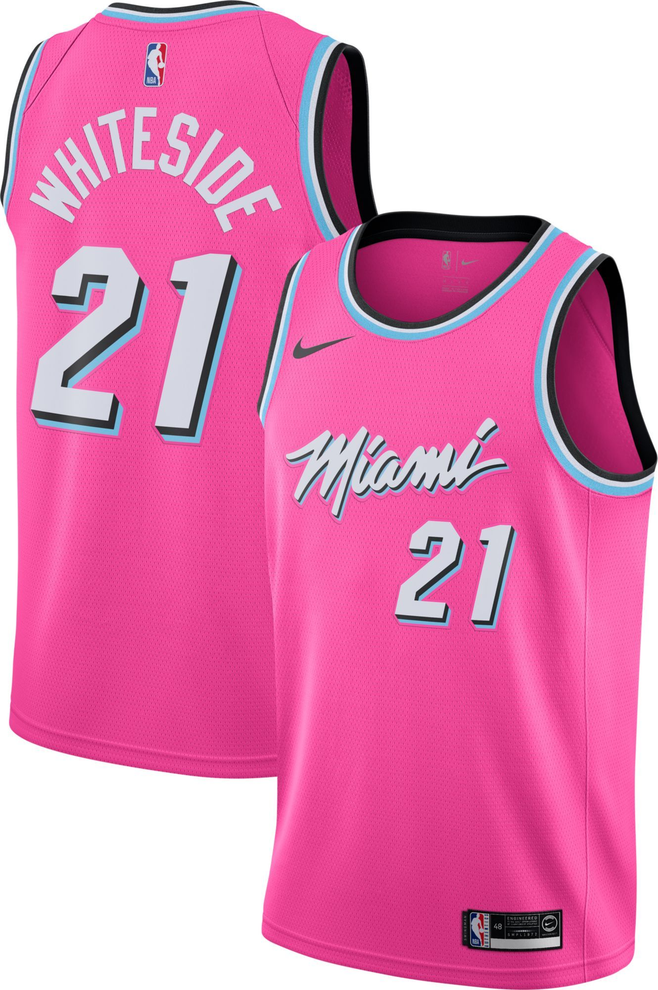 16e9c90fa Nike Men s Miami Heat Hassan Whiteside Dri-FIT Earned Edition Swingman  Jersey