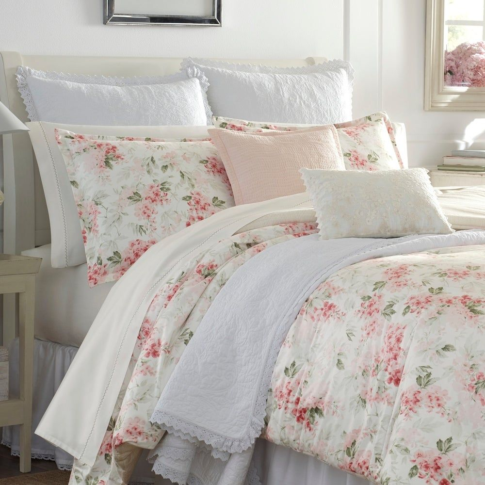 Laura Ashley Wisteria Pink Comforter Set In 2020 Comforter Sets Pink Comforter Sets Pink