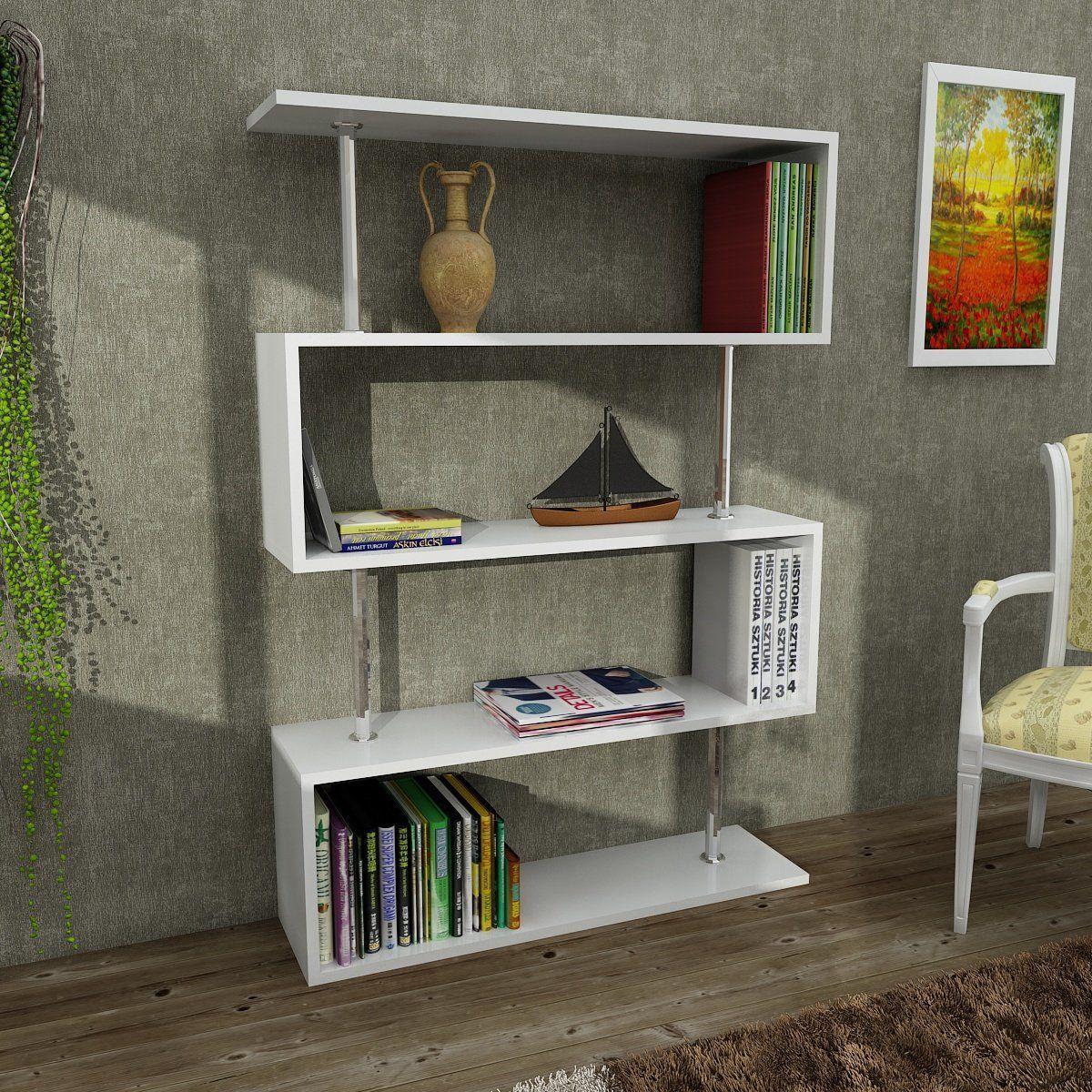 Bliss Modern Bookcase Shelving Unit Bookshelf