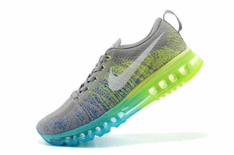 more photos 8b28e 06aaf Pas Cher Women Nike Flyknit Air Max Flyknit Light Charcoal Sail Volt  Glacier Ice 620659 017