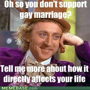 Oh So You Dont Support Gay Marriage Tell Me More About How It