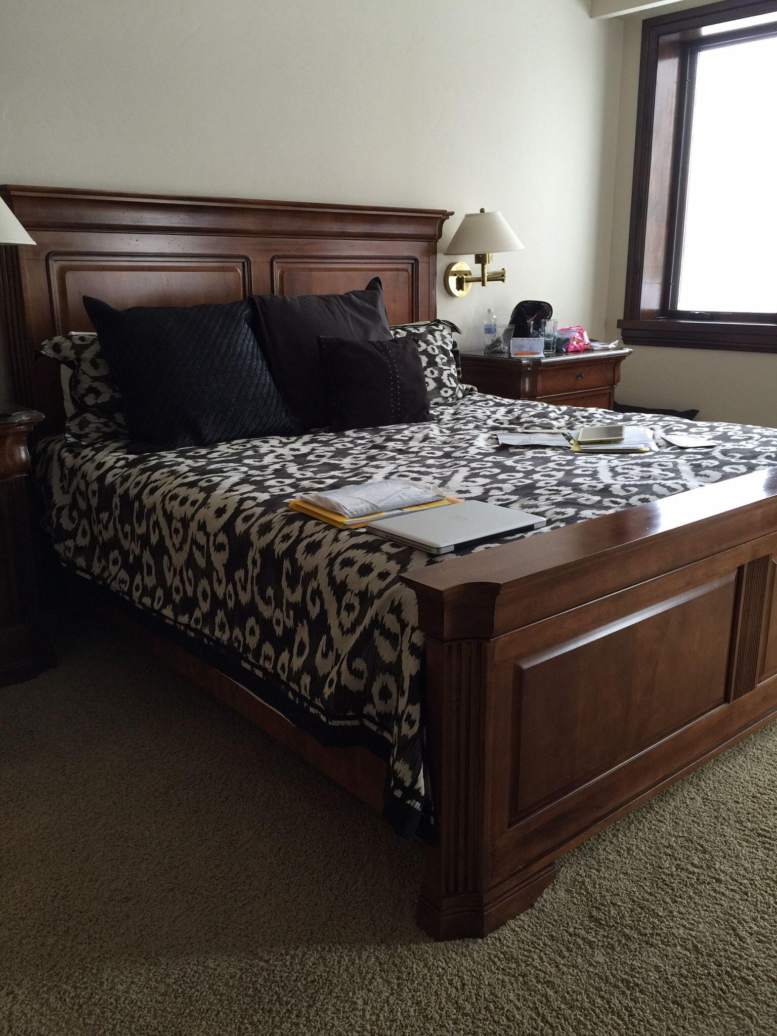 dark wood king size bed frame guest bedroom pinterest king