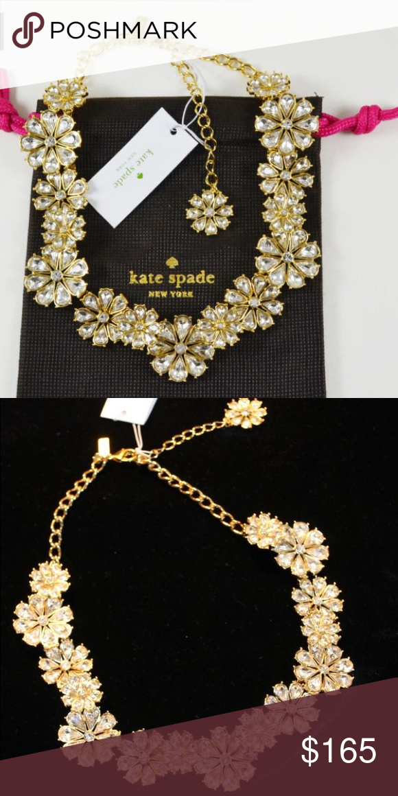 Authentic Kate Spade pretty pearly crew necklace Green