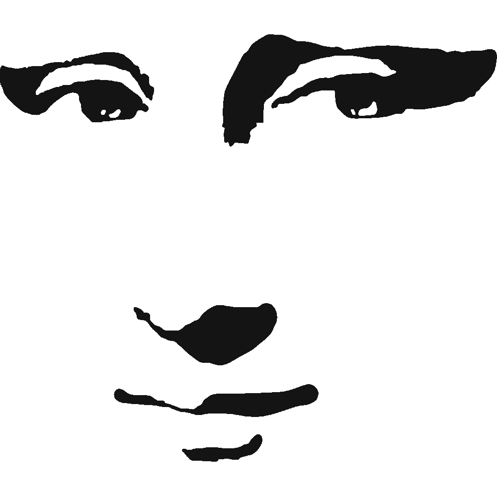 Getsupercustomizedimage Php5 1000 1000 Silhouette Art Stencil Art Mona Lisa