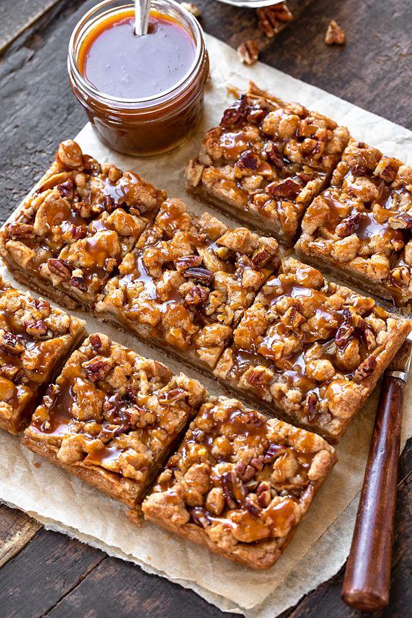 Caramel Apple Bars | The Cozy Apron