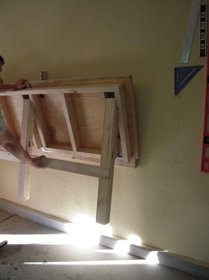 Surprising Fold Down Work Bench For My Garage Work Shop Cool Crafts Pdpeps Interior Chair Design Pdpepsorg