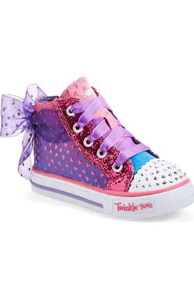 694457f7b612 SKECHERS  Twinkle Toes Shuffles - Pixie Bunch  Light-Up High Top Sneaker ( Walker   Toddler) available at  Nordstrom