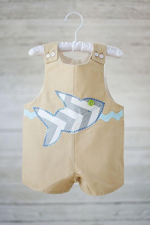 dc02540b2 Boy beach outfit - shark Jon Jon
