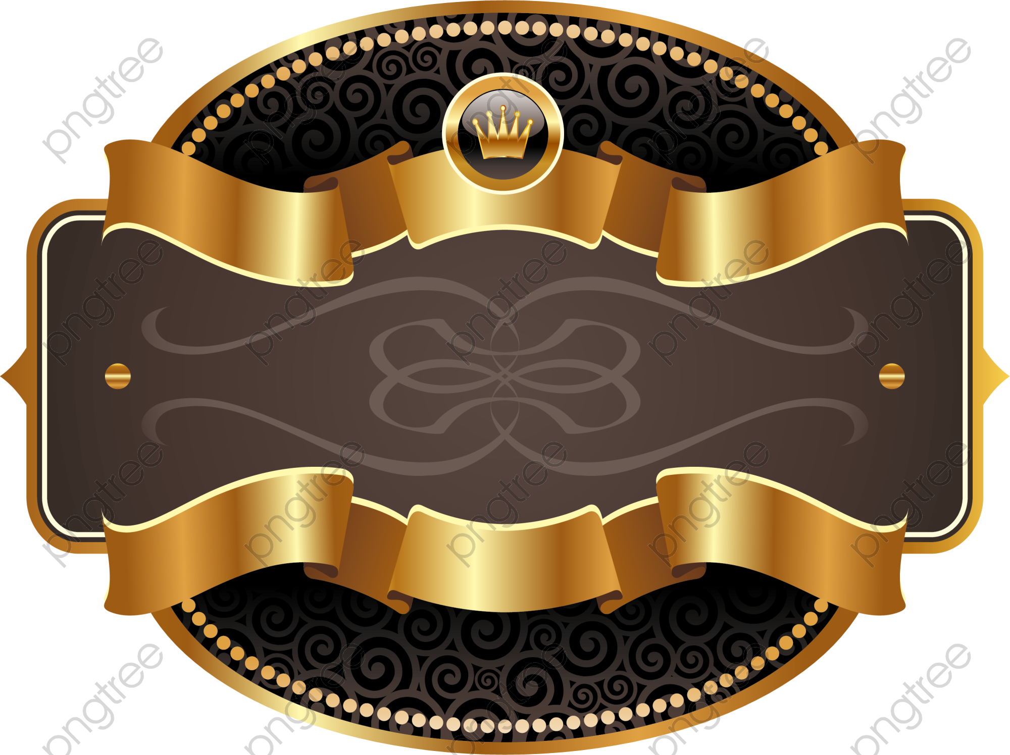 Golden Ribbon Label Png Clipart Ribbon Clipart Ribbon Png Blue Design Graphic