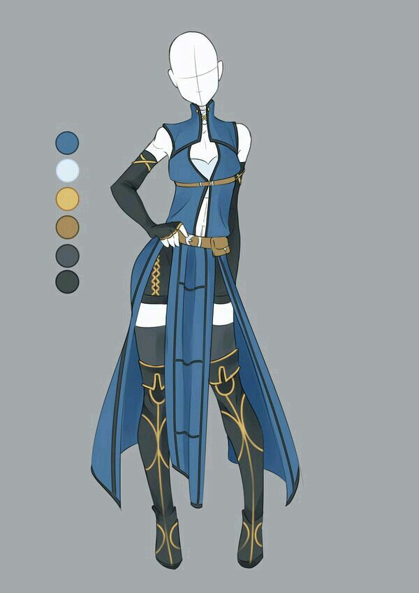 Warrior Dress Fantasy Clothing Anime Outfits Drawing Clothes