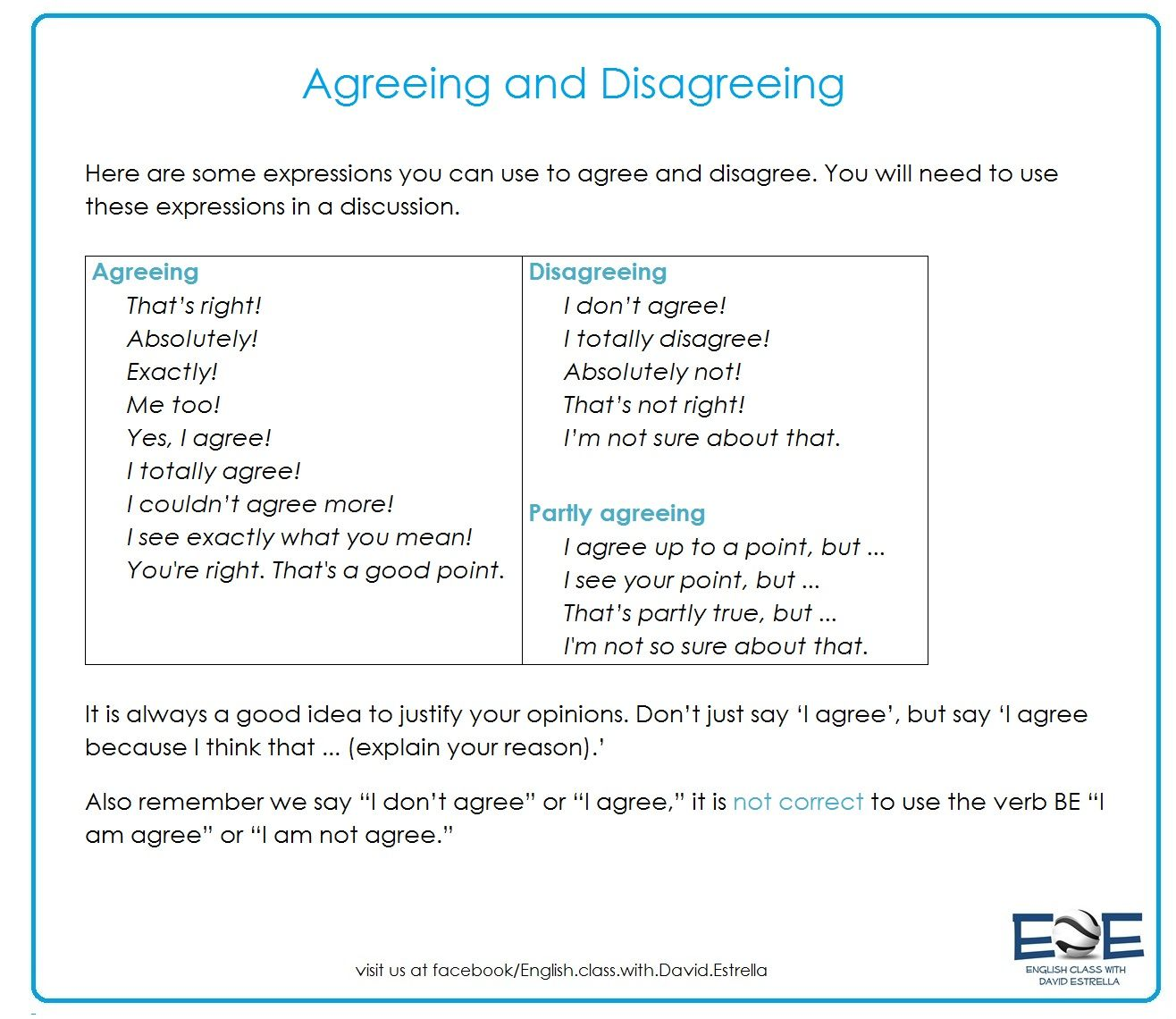 This One Is About Agreeing And Disagreeing With A