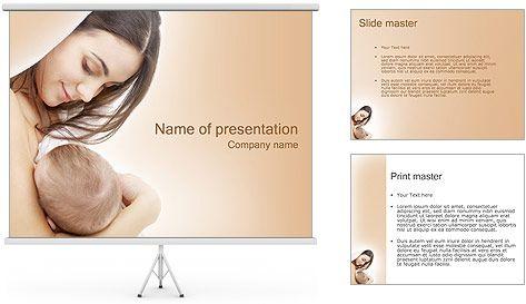 Madre con el bebé Plantillas de Presentaciones PowerPoint