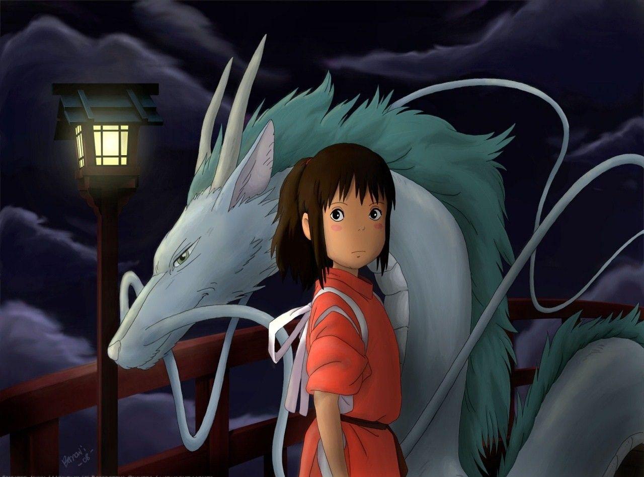 Spirited Away Dragon Chihiro And The Water Spirit Haku Chihiro Dragon Haku Hayao Japanese Animated Movies Japanese Animation Anime Films