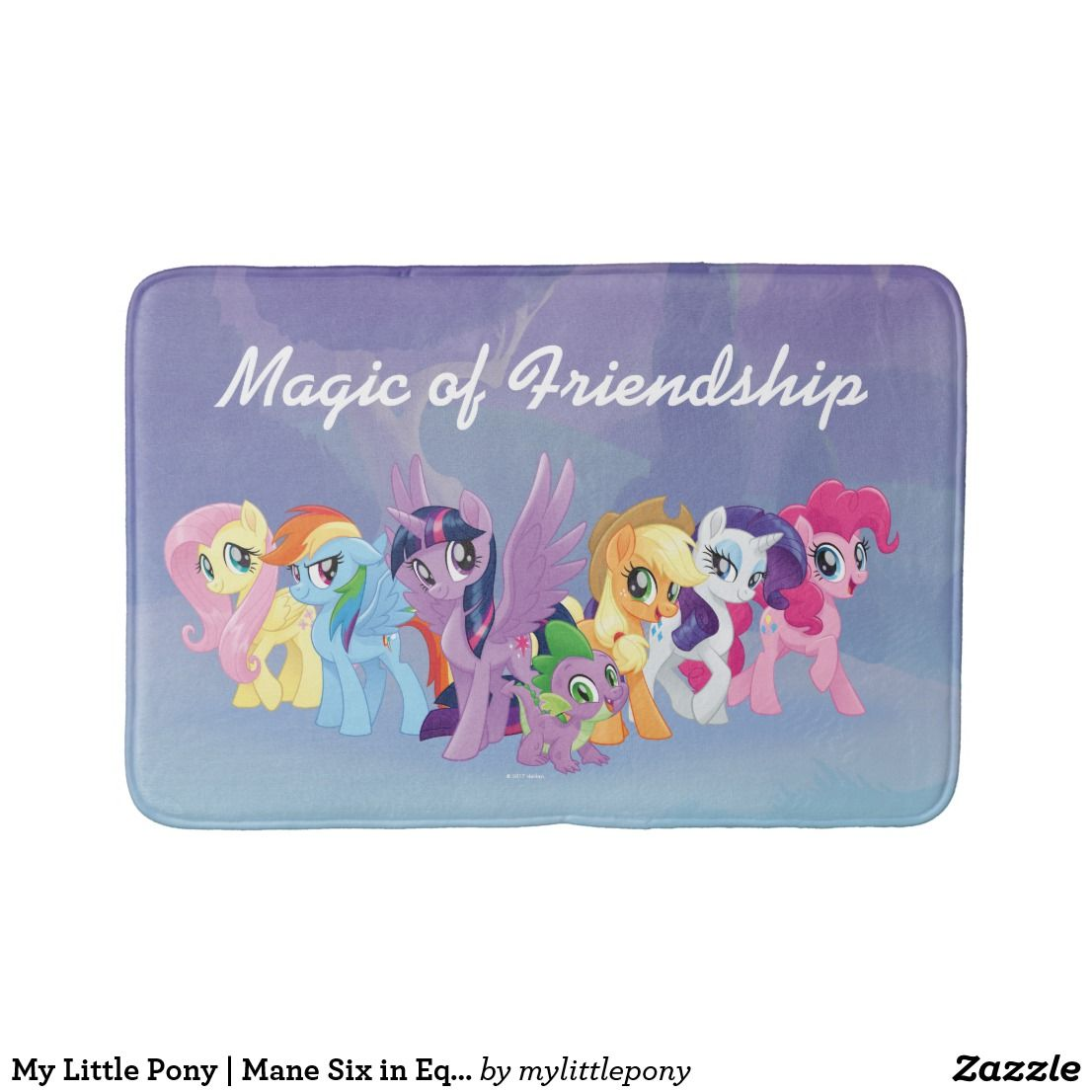 My Little Pony Mane Six In Equestria Bath Mat Zazzle Com With