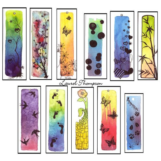 While I was at the festival I ended up working on some new pieces, some ending up being a new line of bookmarks. All done on watercolor paper in watercolors and india ink.: