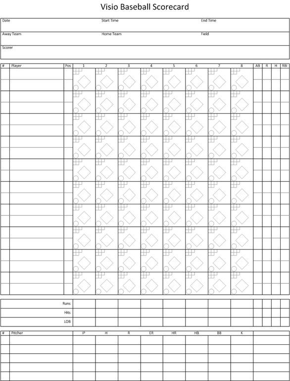 Baseball Score Sheets Edited  Printable    Baseball