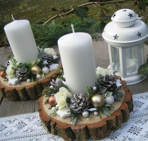 70 Simple And Popular Christmas Decorations Table Decorations Christmas Candles Di Christmas Crafts Decorations Christmas Decor Diy Diy Christmas Ornaments